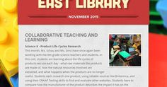 Monthly newsletter from South East Junior High Library in Iowa City, Iowa