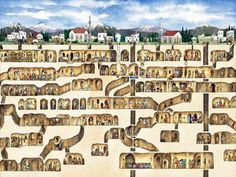 The underground city of Derinkuyu, Turkey.