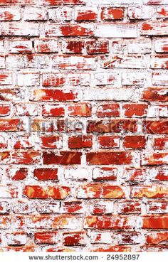 Old brick wall with whitewash stains by Natalia D., via ShutterStock