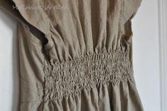 shirring----Washi dress