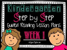Kindergarten Step by Step Guided Reading Plans: Week 1 This packet is designed for those needing step by step guided reading lesson plans. Guided Reading Lesson Plans, Guided Reading Groups, Reading Strategies, Kindergarten Curriculum, Kindergarten Reading, Teaching Reading, Teaching Ideas, Teaching Resources, Learning