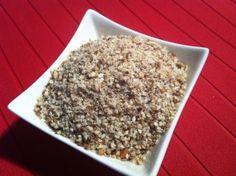 Dukkah 150g sesame seeds 100g hazelnuts or almonds 30g cumin seeds 50g coriander seeds 1 teaspoon salt ½ teaspoon black peppercorns 1 teaspoon dried mint (optional)