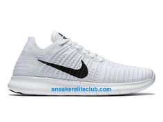 b59ce202f95 Nike Free RN Motion Flyknit Prix - Chaussures De Running Pas Cher Pour  Homme Blanc Noir 831069 101-831069 101 - Chaussure Nike BasketBall Magasin  Pas Cher ...