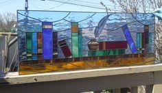 Stained Glass Transom  Written Treasures by TerrazaStainedGlass