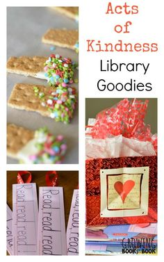 Spread a little kindness to your librarians and library patrons with these fun and yummy acts of kindness activities from growingbookbybook.com .