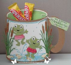 Jar Crafts, Diy And Crafts, 3d Paper Projects, Marianne Design Cards, Elizabeth Craft Designs, Shaped Cards, Frog And Toad, 3d Cards, Stencil Diy