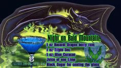 Night on Bald Mountain. Disney theme drinks