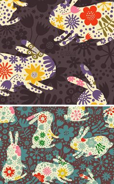 awesome bunny pattern from Helen Dardik at Orange you Lucky!