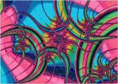 Pink Rainbow Swirl Fractal Cross Stitch Pattern, Instant Download PDF, Relaxation, Meditations by KustomCrossStitch on Etsy