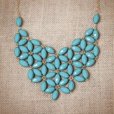 Image of Aqua Daisy Tessellate Necklace