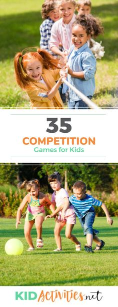 Here you'll find the ultimate collection of competition games for kids. These fun and easy indoor and outdoor competition games for kids. Great for backyard party or group church games too! Outdoor Games For Kids, Fun Games For Kids, Indoor Activities For Kids, Kids Camp, Outdoor Play, Summer Party Games, Summer Fun, Icebreaker Activities, Motor Activities