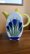 Beautiful Clarice Cliff Style Crocus Coffee Pot by Staffordshire
