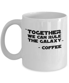 Star Wars Quote Mug - Quality Coffee Cup with Sayings from Movie (Unofficial) - Gift or Present for Sci-Fi Fans, Nerds, Geeks, Programmers