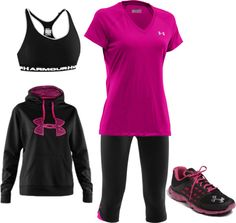 """Under Armour Running- Pink"" under Armour is great workout gear or wear it so people think you keeping your exercise goals! Sporty Outfits, Athletic Outfits, Athletic Wear, Cute Outfits, Fashion Outfits, Gym Outfits, Fitness Outfits, Workout Attire, Workout Wear"