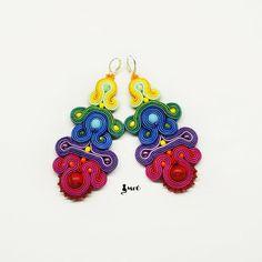 Mega+Colorful+soutache+earrings++by+MrOsOutache+on+Etsy,+$65.00