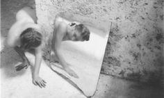 Francesca Woodman's Self-deceit #1, Rome Italy, 1978. Photograph: The Estate of Francesca Woodman, Courtesy George and Betty Woodman and Victoria Miro Gallery.