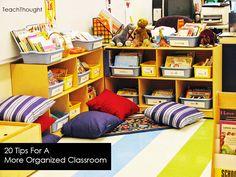 TeachThought   20 Tips For A More Organized Classroom #classroomorganization