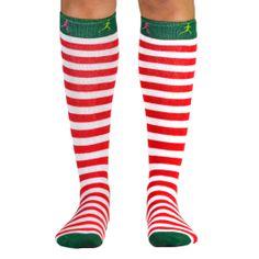 Yakety Yak! Knee Socks - Running Christmas Elf (Red & White Stripes/Green) | Running Knee Socks! OMG I MUST HAVE