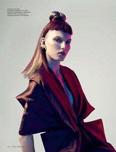 Vogue Netherlands  September 2012  Photographer: Marc de Groot  Model: Marique Schimmel  Stylist: Dimphy den Otter
