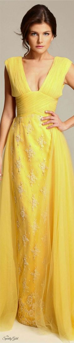 yellow maxi dress, gown. @roressclothes closet ideas women fashion outfit clothing style apparel