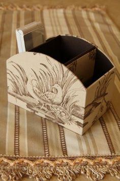 ジュイで小ぶりなスタンド♪ : Fabrikoのカルトナージュと布小物