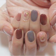 Colors for short nai Nail Swag, Korean Nail Art, Korean Nails, Cute Nails, Pretty Nails, My Nails, Minimalist Nails, Girls Nails, Pastel Nails