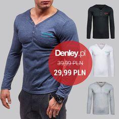 Koszulki z długim rękawem cieszą się niesłabnącą popularnością. Modny dekolt, stylowy fason i 3 kolory do wyboru - dzięki temu nasze longsleevy idealnie wpiszą się w wygodny, sportowy look. :)  Kup je już dziś z 25% rabatem ➡ http://bit.ly/LongsleeveDenley #denleynasportowo