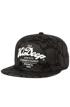 The Monticello Snapback in Black Mallard by 10 Deep