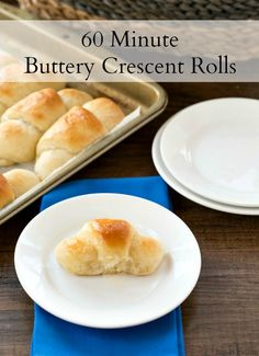 Soft, buttery crescent rolls that are made from scratch in just 60 minutes!
