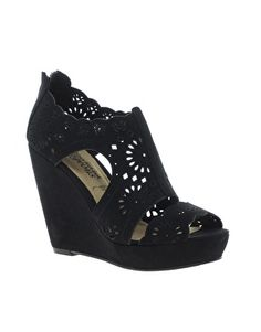 New Look Rosie Lazer Cut Wedge Shoes