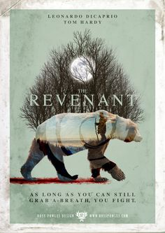 The Revenant movie poster. © Ross Powles Design Prints available at https://www.etsy.com/listing/265424107/the-revenant-movie-poster