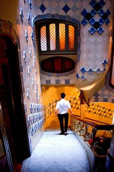 Casa Batllo-Interior Gaudi Barcelona Catalonia