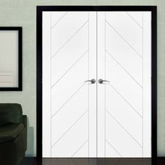 Monza White Primed Flush Door Pair, great sizes, fantastic styling and great prices. #whitemoderndoors #internalwhitedoorpai #contemporarydoors