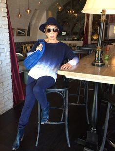 Dorrie from Senior Style Bible is proof that you can wear the ombre trend at 80.