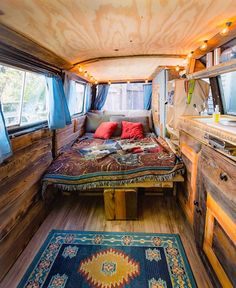 Camper van bedroom