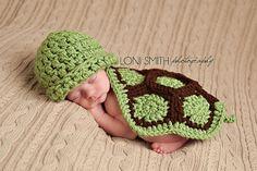 Sea Turtle Hat & Cape - Crochet Animal Bug Baby Newborn Nb Beanie Cap Costume Halloween  Winter Outfit