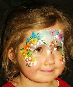 Beautiful face painting ideas for kids face paint beautiful Face Painting Images, Face Painting Flowers, Face Painting Designs, Face Paintings, Princess Face Painting, Girl Face Painting, Painting For Kids, Mask Design, Face Art