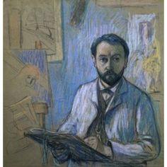 Self Portrait in the Studio (Autoportrait dans lAtelier) Claude Emile Schuffenecker (1851-1934French) Musee dOrsay Paris Canvas Art - Claude Emile Schuffenecker (18 x 24)