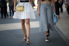 Best Street Style from Fashion Week Spring 2015 --New York Fashion Week -- These friends' bag styles perfectly complemented those of their shoes.