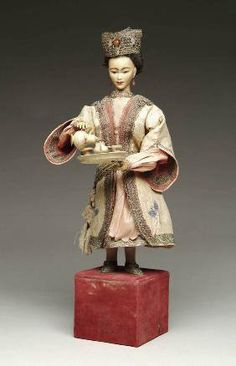 French automaton of woman pouring tea by Leopold Lambert circa 1890.