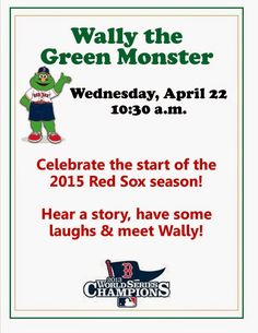 Wally the Green Monster at Franklin Public Library