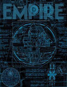 Les plans de l'Etoile Noire sont en couverture du magazine Empire à l'occasion de la sortie de Rogue One: A Star Wars Story.