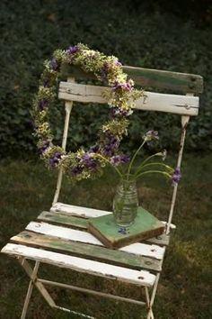 Wreath on Chair