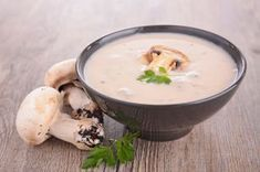 Mushroom Bisque - The Provincetown Independent Mushroom Bisque, Creamy Mushroom Soup, Creamy Mushrooms, Stuffed Mushrooms, Stuffed Peppers, Roasted Tomato Soup, Roasted Tomatoes, Broccoli Benefits, Raw Food Recipes