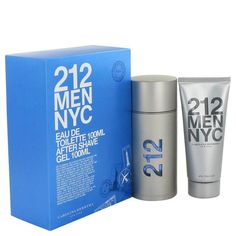 212 by Carolina Herrera Gift Set -- 3.3 oz Eau De Toilette Spray + 3.3 oz After Shave Gel
