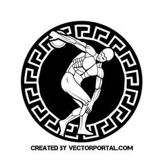 Discus thrower vector illustration. Free Vector Images, Vector Free, Discus Thrower, Track Quotes, Vectors, Illustration, Sports, Greek, Sculpture