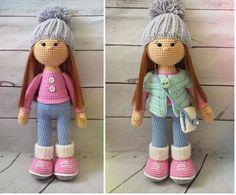 El esquema completo para tejer una muñeca a crochet