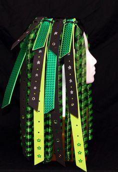 SOLD Cyberlox Cyber Hair Falls  Envy  UV Green by PinkHaloDesigns, $45.00