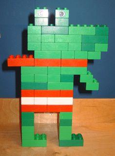 Lego Kikker in de kou