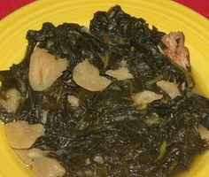 Traditional Southern Greens: great with cornbread, rice or grits! Serve with catfish or chicken and black-eyed, purple-hull, crowder or field peas (or any combination of these!)...and don't forget the fried okra!